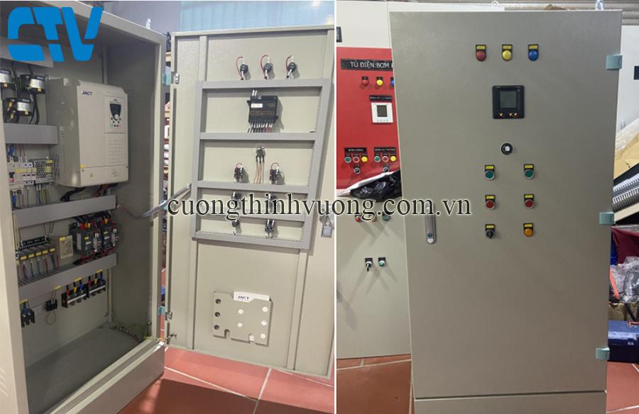 Tủ điện điều khiển biến tần sử dụng cho máy bơm 37Kw